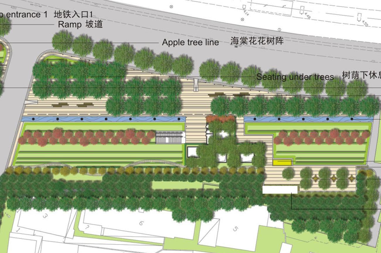 M8 Plaza in Shanghai - Baumhainstrategie weltweit!