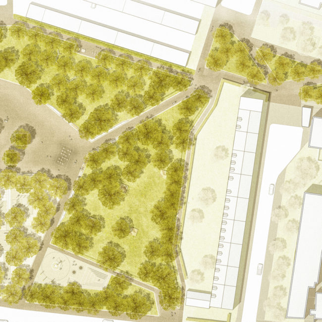 Klima- und Baumhainkonzepte Projekte Quartierspark Nürnberg Plan