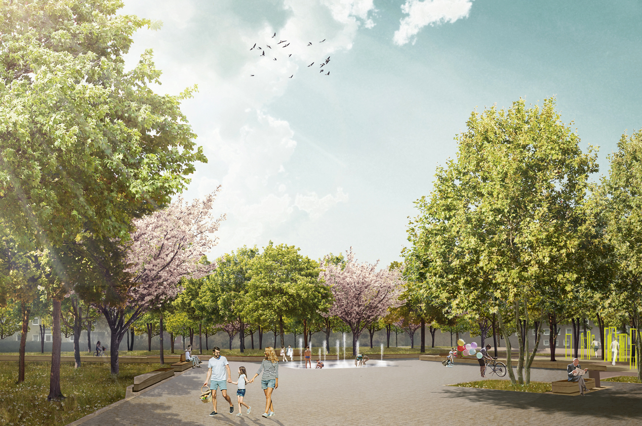 Klima- und Baumhainkonzepte Projekte Quartierspark Nürnberg